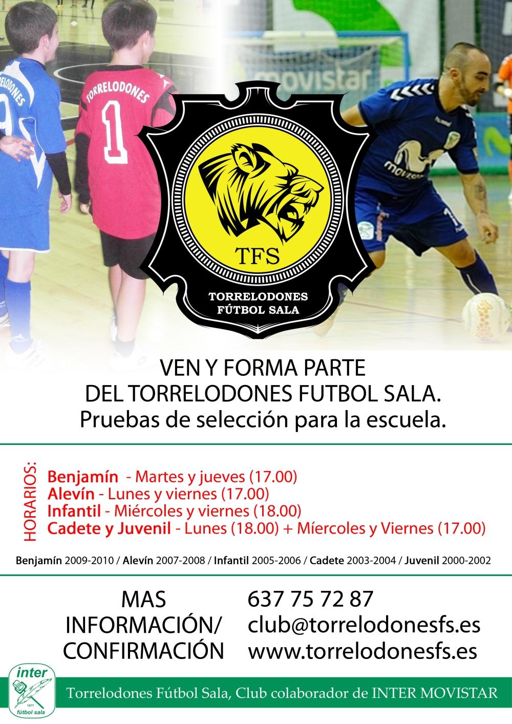 cartel futsal escuela 2018 horarios